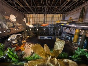 Inside  of the Air & Space Museum decorated for Christmas. (Photo: National Air & Space Museum)