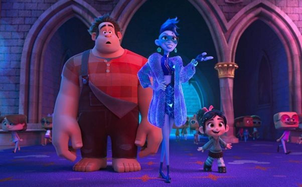 Ralph and Venellope with Yess after arriving on the Internet. (Photo: Walt Disney Studios)