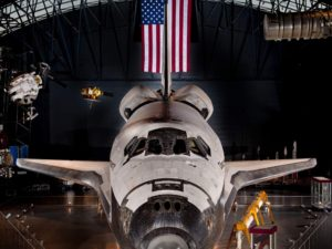 Photo of the Discovery space shuttle inside the Udvar-Hazy Center. (Photo: Udvar-Hazy Center)