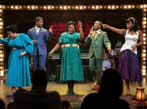 "The cast of ""Ain't Misbehavin'"" perfomring on stage. (Photo: Signature Theatre)"