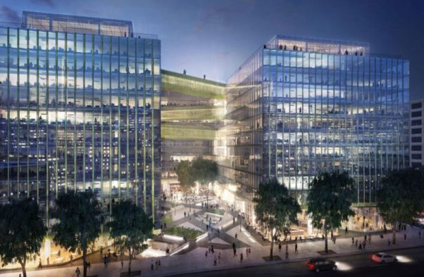 A rendering of the outside of Midtown Center. (Rendering: Carr Properties)