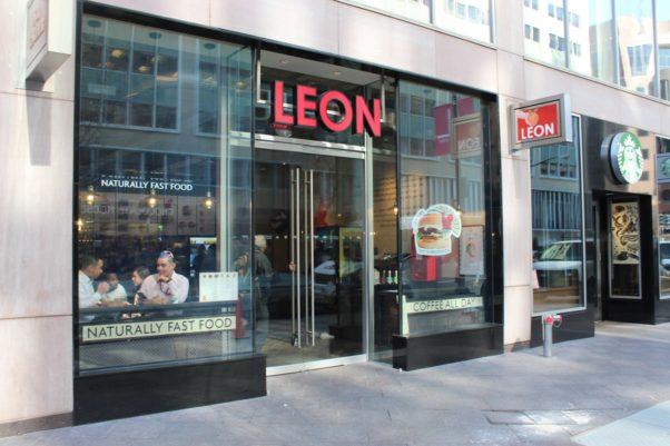 The outside of Leon on L Street. (Photo: Mark Heckathorn/DC on Heels)