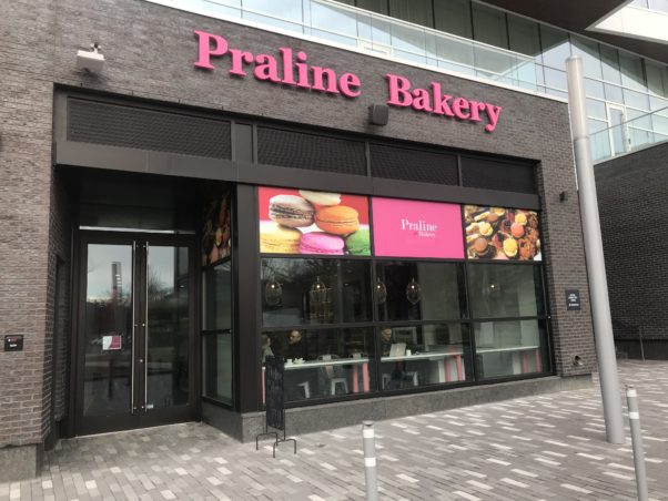 The outside of the Praline Bakery at the Wharf. (Photo: Praline Ba