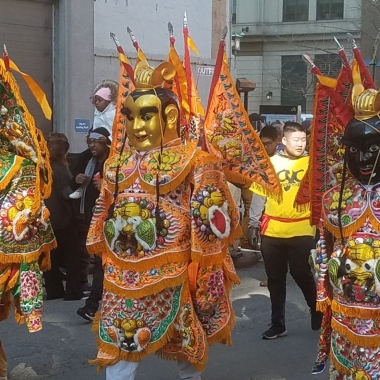 Marcher's dressed as Buddas in last year's Chinese New Year Parade. (Photo: Mark Heckathorn/DC on Heels)