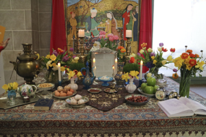 A table set for Nowruz. (Photo: Freer Sackler)
