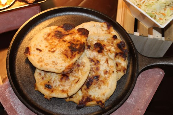 A plate of grilled pupusas. (Photo: Mark Heckathorn/DC on Heels)