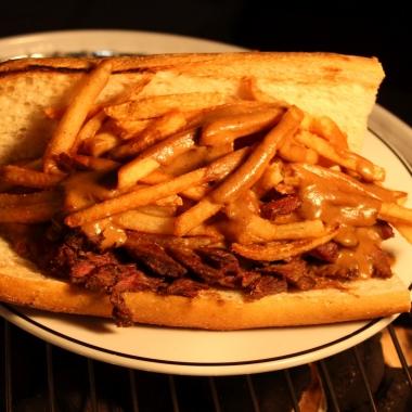 Medium Rare's steak sandwich with fries and specail sauce on a hoagie roll. (Photo: Mark Heckathorn)