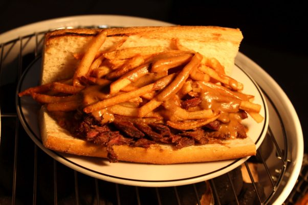 Medium Rare's steak sandwich with fries and specail sauce on a hoagie roll. (Photo: Mark Heckathorn)