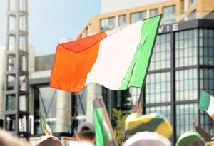 An Irish flag flying at the Wharf. (Photo: The Wharf)
