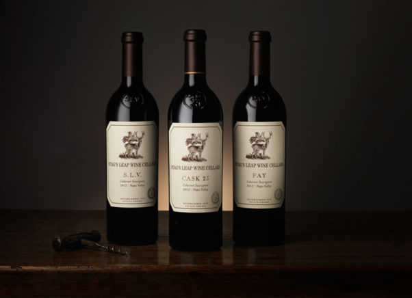 Three bottles of Stag's Leap wines sitting beside each other. (Photo: Stag's Leap Wine Cellars)