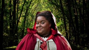 Photo of Jade Jones as Little Red Riding Hood in Into the Woods