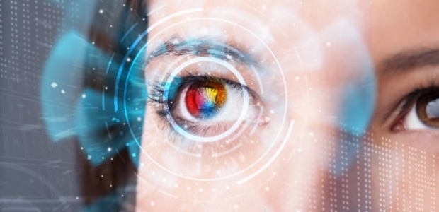 Future woman with cyber technology eye panel concept. (Photo: iStock)