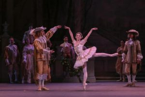 Sleeping Beauty dancing with her prince in a sceen from the show. (Photo: Washington Ballet)