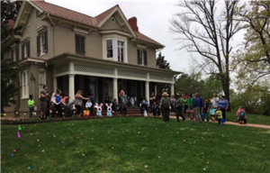 Kids prepare to hunt for Easter eggs in front of Fredrick Douglass' former home. (Photo: National Park Service)