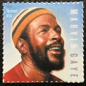 The U.S. Postal Service's new Marvin Gaye stamp. (Photo: USPS)