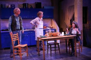 Robin (Richard Howard), Hazel (Jeanne Paulsen) and Rose (Naomi Jacobson) talk in a kitchen in The Children. (Photo: Carol Rosegg)