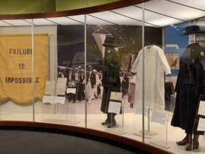 """A display case at the National Archive's """"Rightfully Hers: American Women and the Vote"""" with women's clothing from the 20s. (Photo: National Archives)"""