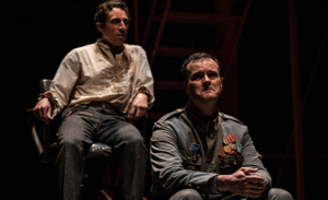 """John David Martin (left) and Tim Getman in """"Describe the Night."""" (Photo: Woolly Mamouth Theatre Co.)"""