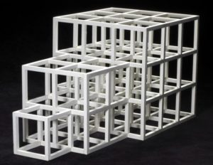 Marquette for One,Two Three by Sol LeWitt. (Photo: Smithsonian American Art Museum)