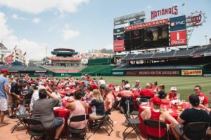 Diners eat brunch on the field at Nats Park last year. (Photo: Washington Nationals)