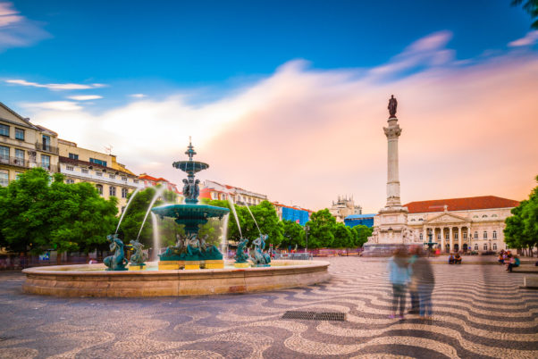 Lisbon, Portugal at Rossio Square with fountain. (Photo: Suppled)
