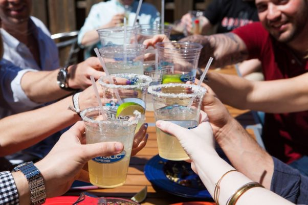 A group of people toasting with margaritas. (Photo: Surfside)