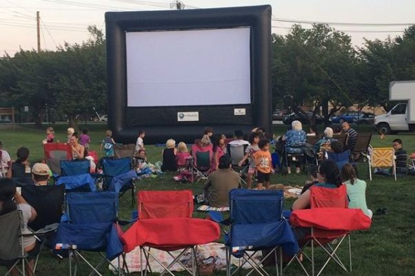 Spectators wait for one of last year's Movies in the Parks to begin. (Photo: City of Rockville)