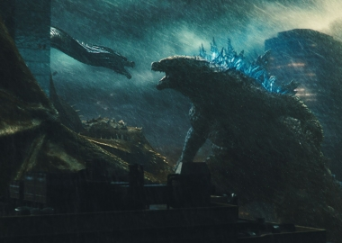 King Ghidorah (left) and Godzilla (right) fight. (Photo: Warner Bros. Pictures)