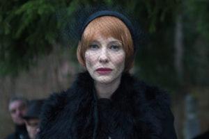 """A scene from Julian Rosefeldt's """"Manifesto"""" of a woman in a fur coat and hat. (Photo: Julian Rosefeldt)"""