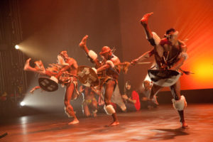 Dancers dressed in African costumes. (Photo: Step Afrika!)