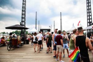 Visitors to last year's Pride on the Pier at the Wharf. (Photo: Beauty by Photography)