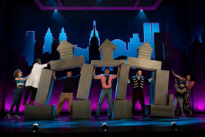 The cast of Falsettos on stage during a dance number. (Photo: Kennedy Center)