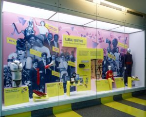 A display case filled with artifacts at the Illegal to Be You exhibit. (Photo: National Museum of American History)