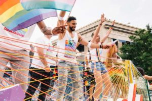 Revelers on a float in last year's Capital Pride Parade. (Photo: Destination D.C.)