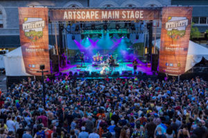 A band performs on the Artscape Main Stage at a previous Artscape. (Photo: Artscape)