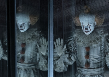Bill Skarsgard as Pennywise the Clown in New Line Cinem'a