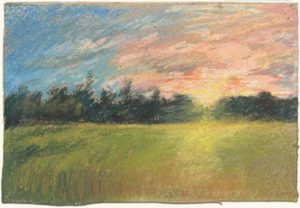 """A Meadow of Sunset"" drawing by Paul Huet. (Photo: National Gallery of Art)"