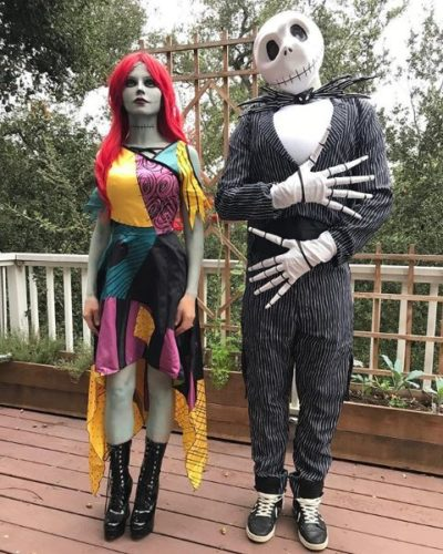 Jack and Sally from <em>The Nightmare Before Christmas</em> (Photo: jennadewan/Instagram)