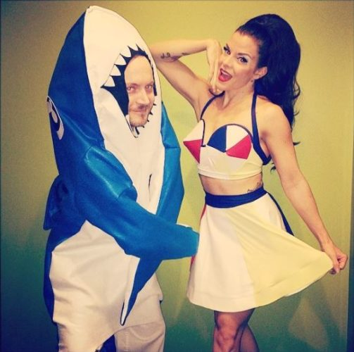Katy Perry and Left Shark (Photo: jvonstratton/Instagram)