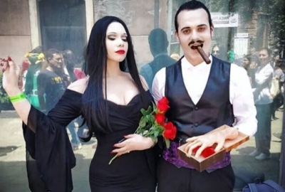 Morticia and Gomez Addams from The Addams Family (Photo: miss.sharonvongates/Instagram)