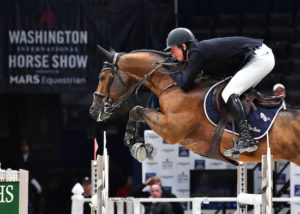 Jos Verlooy jumps his horse Varoune in competition earlier this week. (Photo: Shawn McMillen Photography)
