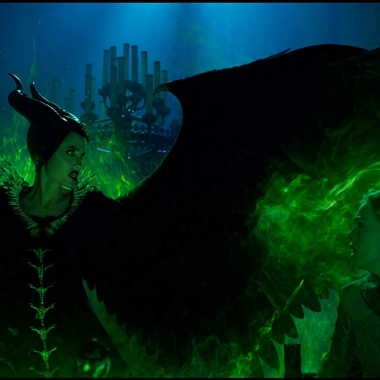 Maleficent (Angelina Jolie) and Aurora (Elle Fanning) come face-to-face in Maleficent: Mistress of Evil. (Photo: Walt Disney Studios)