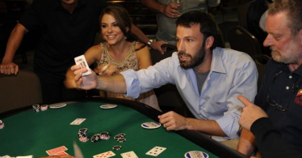 Ben Affleck playing poker. (Photo; Getty Images)