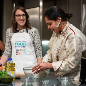 Chef Maneet Chauhan does a cooking demonstration at last year's event. (Photo: National Museum of American History)