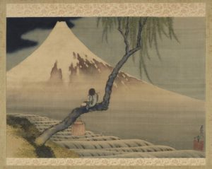 """Gazing into the Distance"" by Katsushika Hokusai. (Photo: Freer Gallery)"