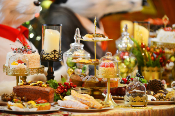 A table filled with holiday treats. (Photo: Shutterstock)