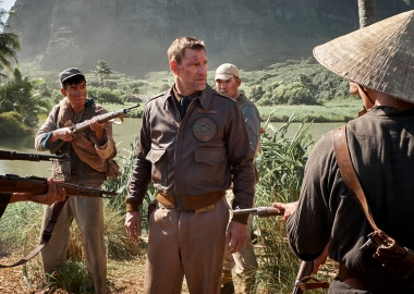 Jimmy Doolittle (Aaron Eckhart) is captured by Chinese soldiers. (Photo: Lionsgate Films)