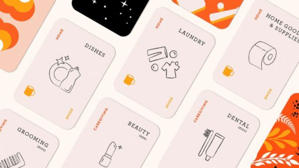 Fair Play cards with various home and caregiving chores listed on each. (Photo: GMA)