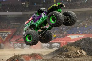 Grave Digger performs a jump at Monster Jam. (Photo: Monster Jam)