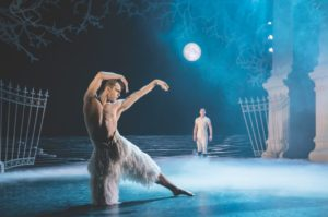 The swan dances on stage. (Photo: Kennedy Center)